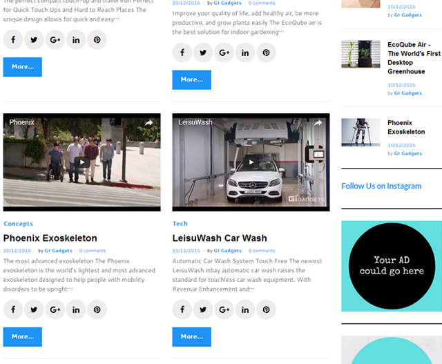 Gigadgets publish and recommend Leisuwash 360