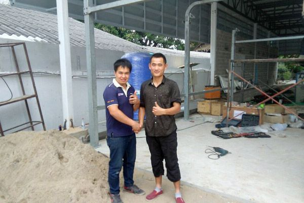 Leisuwash Brushless car wash installation in Chiangmai