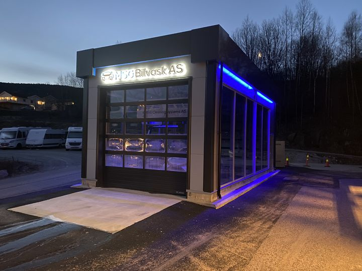MSG automatic car wash in Norway